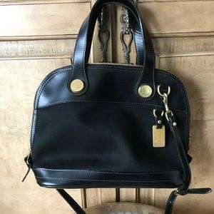 Dooney & Bourke Leather and canvas bag